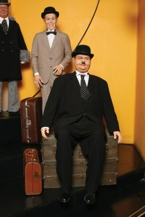 Stan Laurel And Oliver Hardy From Towed In A Hole