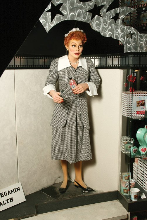 16: Lucille Ball wax figure as Lucy Ricardo