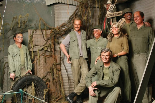 45: Cast of M*A*S*H TV series wax figures