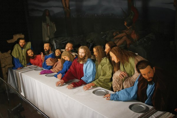 152: The Last Supper disply Jesus and His 12 Disciples