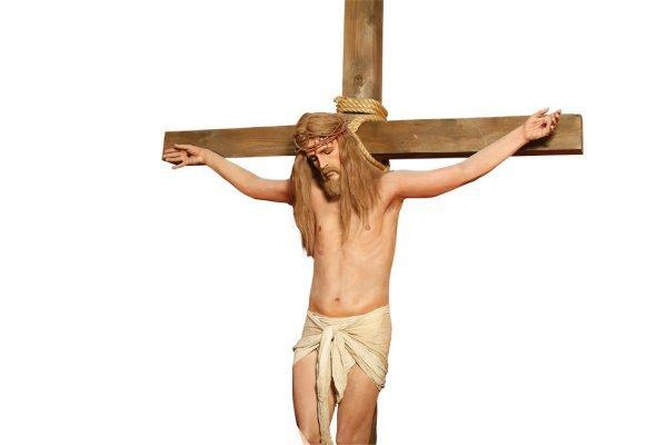 155: Jesus on Crucifix wax figure