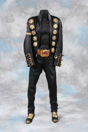 159: Michael Jackson costume from 1988 Bad Concert Tour
