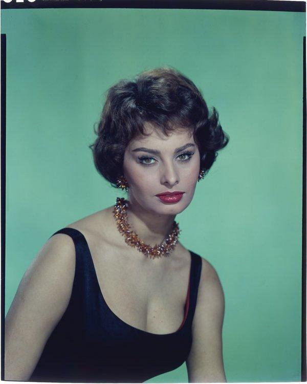 396: Sophia Loren color camera negative from Houseboat