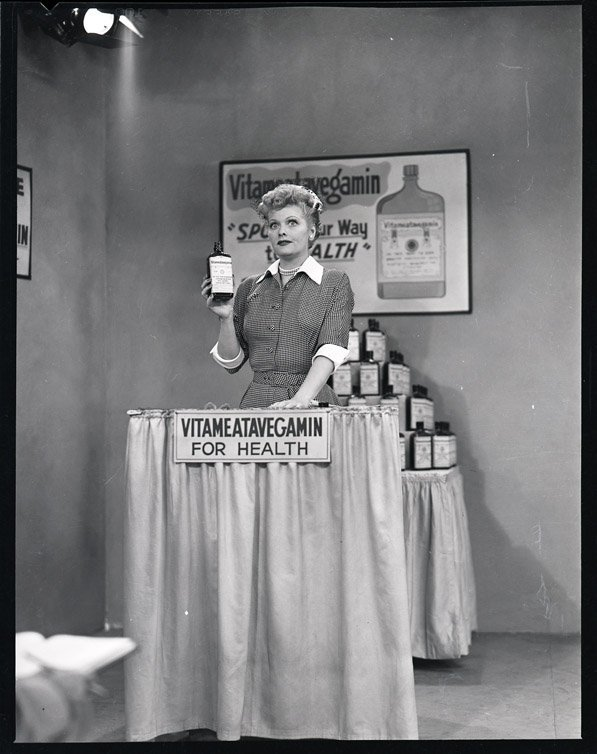 420: Lucille Ball with Harpo Marx negatives from I Love