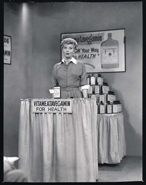 420: Lucille Ball with Harpo Marx negatives from I Love - 2