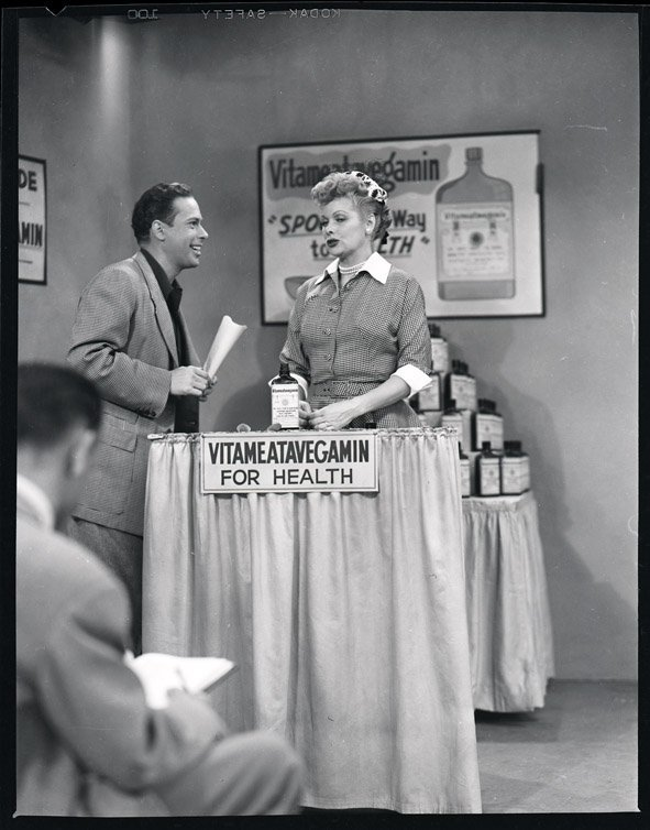 420: Lucille Ball with Harpo Marx negatives from I Love - 3