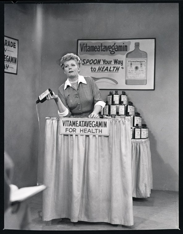 420: Lucille Ball with Harpo Marx negatives from I Love - 5
