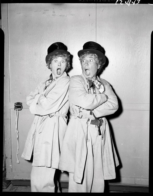 420: Lucille Ball with Harpo Marx negatives from I Love - 6