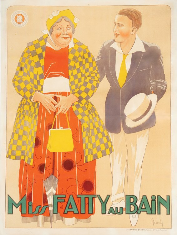 478: Miss Fatty au Bain French 46 ½ x 63 in. poster