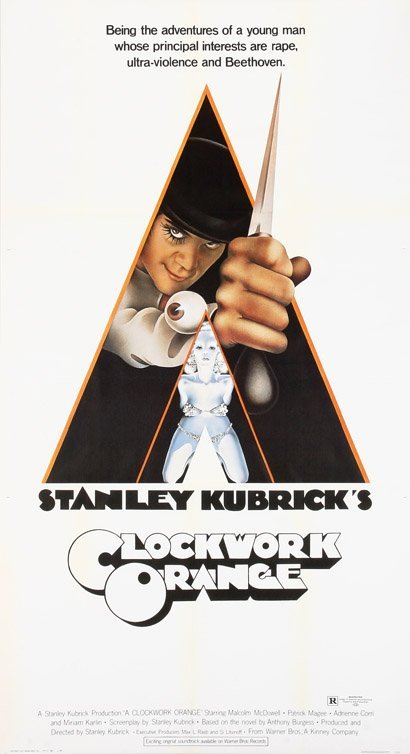 534: A Clockwork Orange 3-sheet poster X-rated style