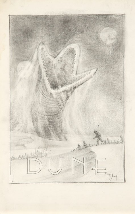 594: Eight concept sketches from Dune by Tom Jung