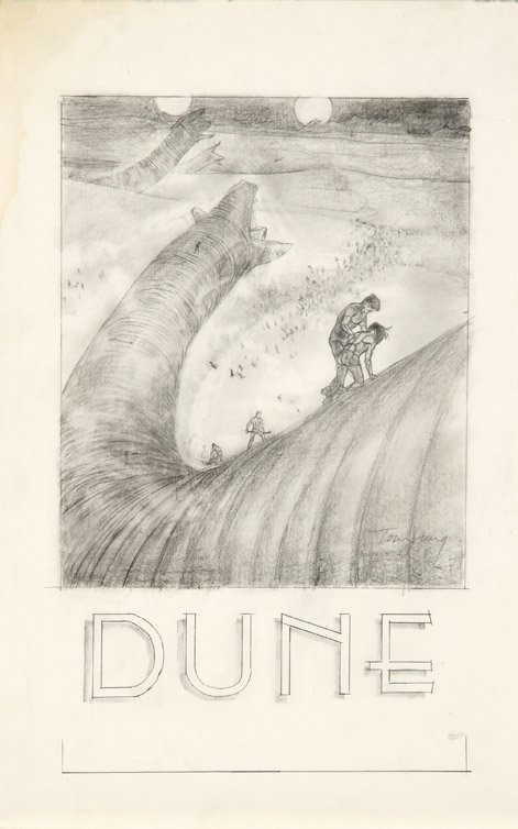 594: Eight concept sketches from Dune by Tom Jung - 2