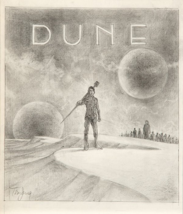 594: Eight concept sketches from Dune by Tom Jung - 3