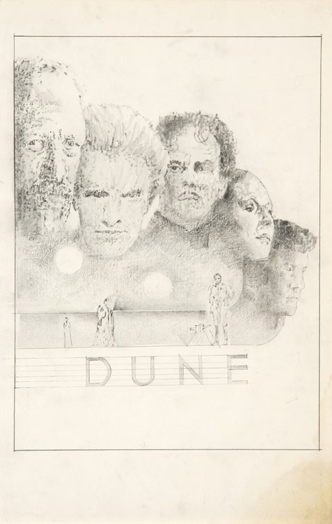 594: Eight concept sketches from Dune by Tom Jung - 4