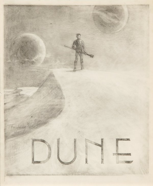 594: Eight concept sketches from Dune by Tom Jung - 5