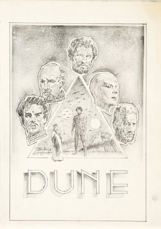 594: Eight concept sketches from Dune by Tom Jung - 6