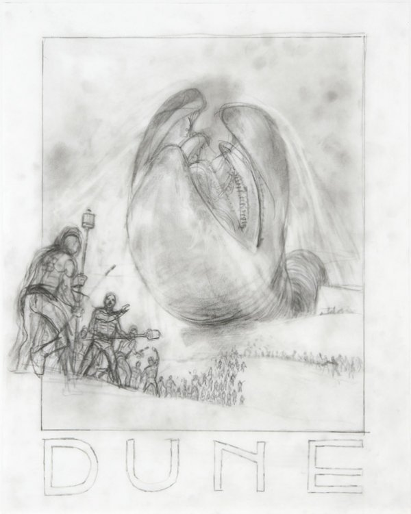 594: Eight concept sketches from Dune by Tom Jung - 7