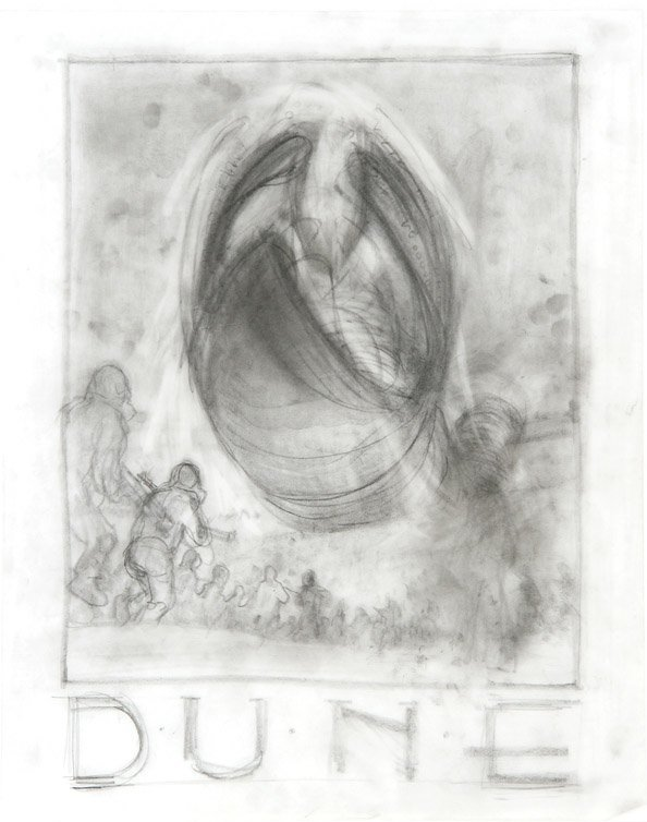 594: Eight concept sketches from Dune by Tom Jung - 8