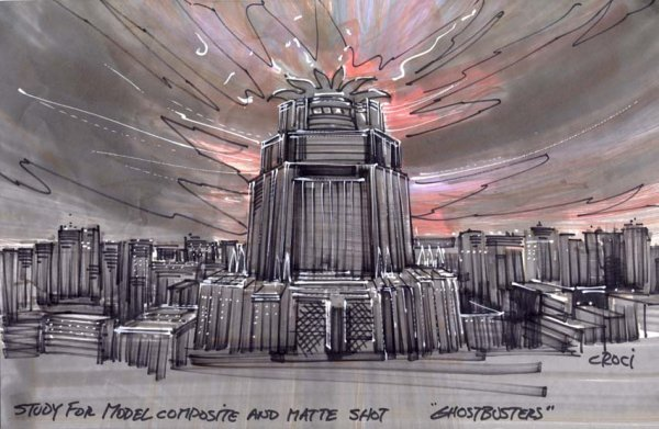 596: Archive of original concept art for Ghostbusters - 4