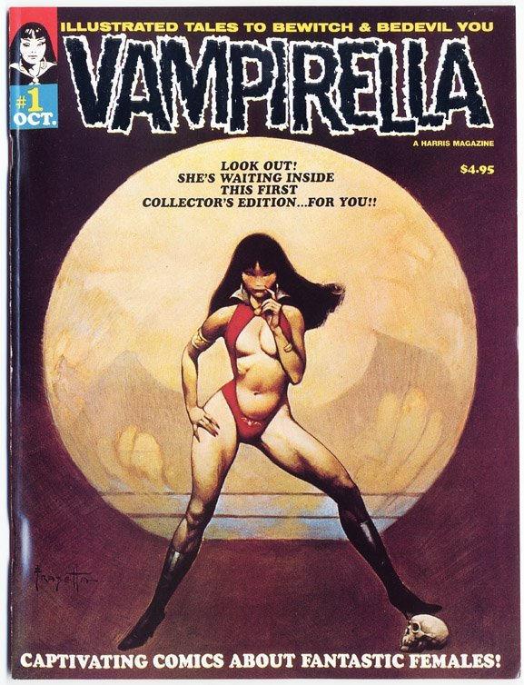 686: Comic artwork by Tom Sutton for Vampirella #1 - 8