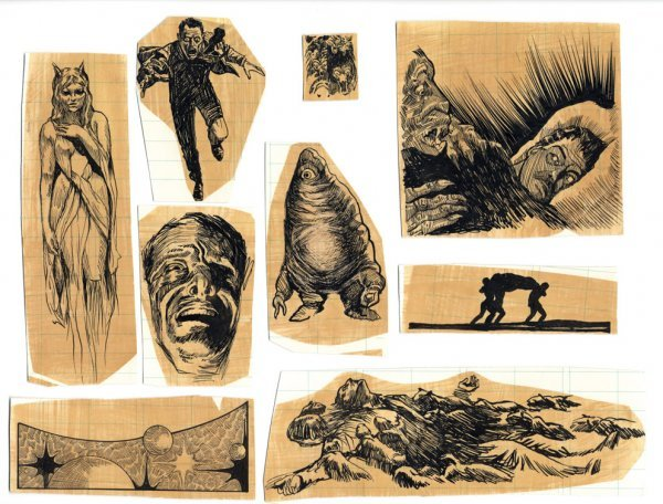 730: Weird Tales & Frank Kelly Freas original artwork