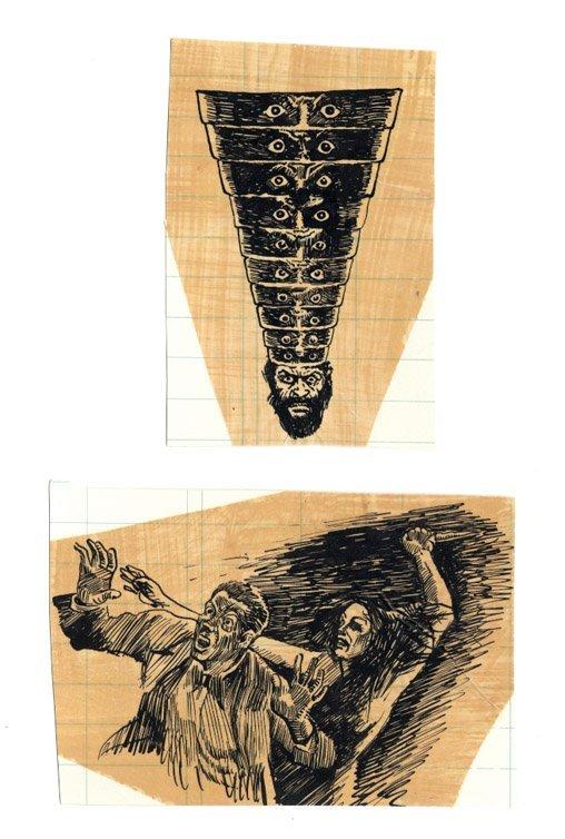 730: Weird Tales & Frank Kelly Freas original artwork - 2