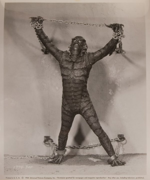 801: Creature from the Black Lagoon Gill Man mask - 9