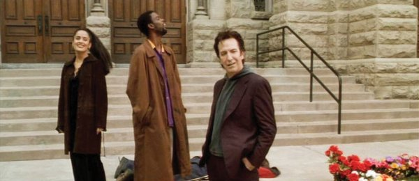 982: Alan Rickman Metatron purple Versace suit - Dogma - 2