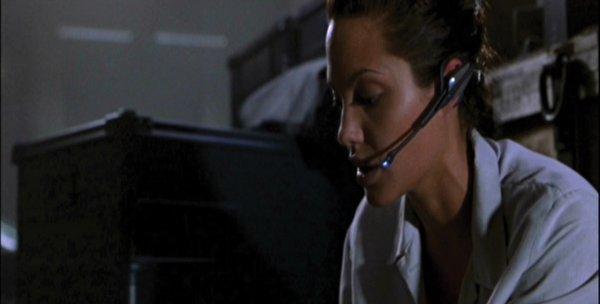1017: Angelina Jolie Lara Croft life cast and headset - 2