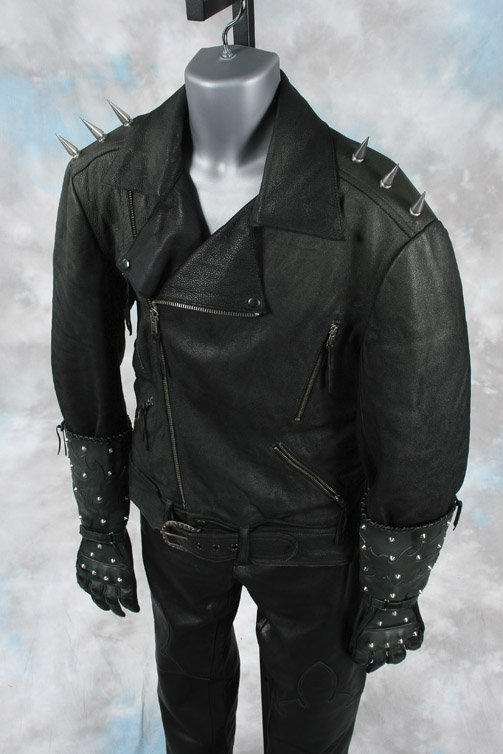 1038: Nicolas Cage Ghost Rider leather suit - 2
