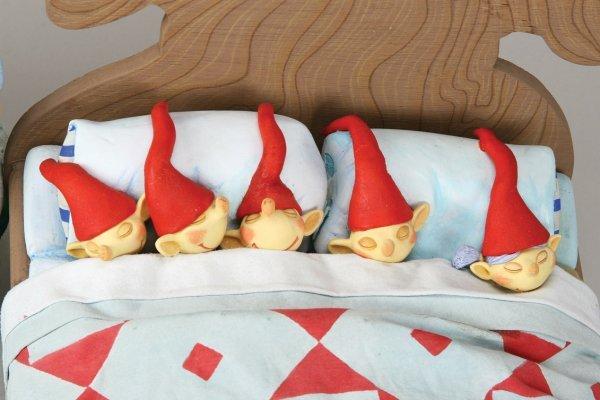 1102: Elven bed w/five Elves Nightmare Before Christmas - 2