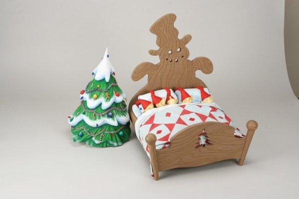 1102: Elven bed w/five Elves Nightmare Before Christmas - 3