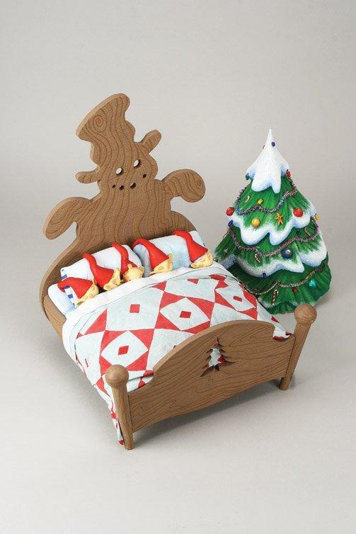 1102: Elven bed w/five Elves Nightmare Before Christmas - 4