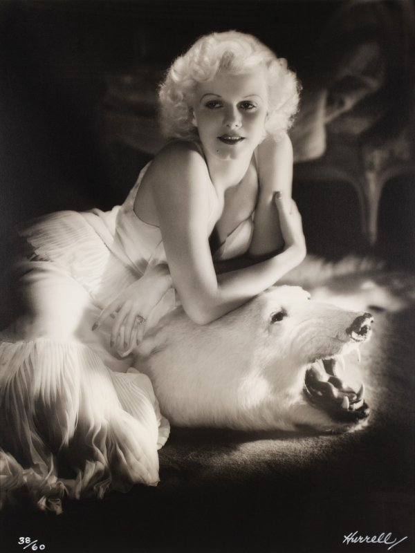 597: Jean Harlow Bear Rug photo Hurrell Vanity Fair