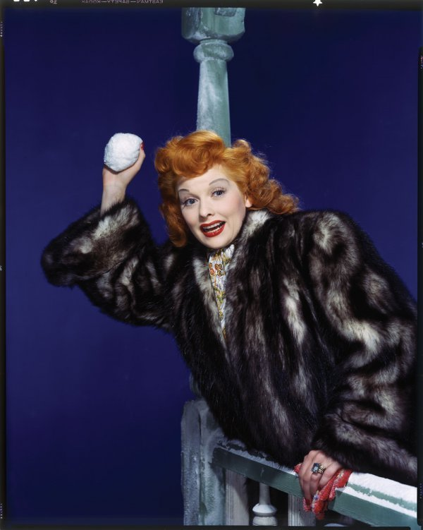 1061: Lucille Ball color transparency by Sinclair Bull