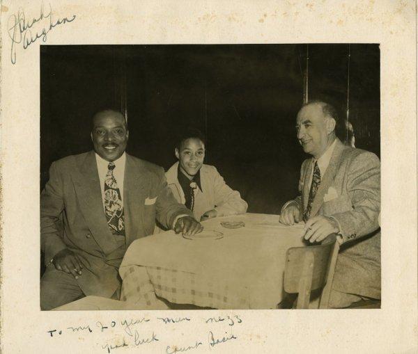 Bop City souvenir photos signed - Louis Armstrong et al