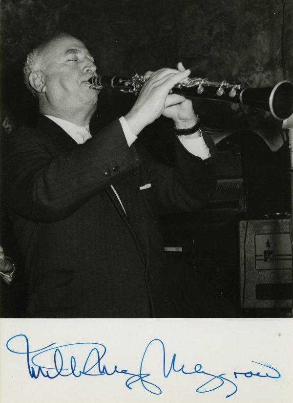 Louis Armstrong & Milton Mezzrow signed portraits