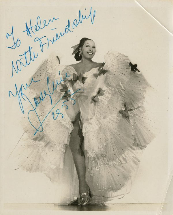 Josephine Baker & The Nicholas Brothers signed photos