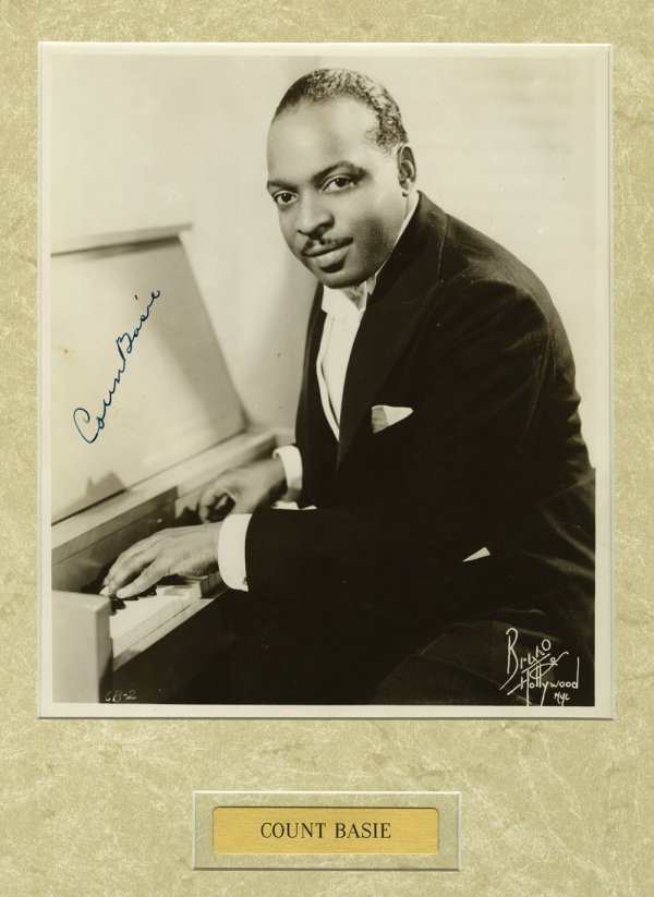 Collection of Count Basie and Basie Band autographs