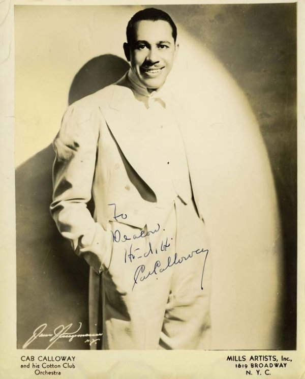 Signed Cab Calloway photo and Band album page