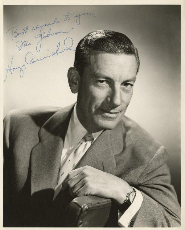 Hoagy Carmichael and Johnny Mercer signed portraits