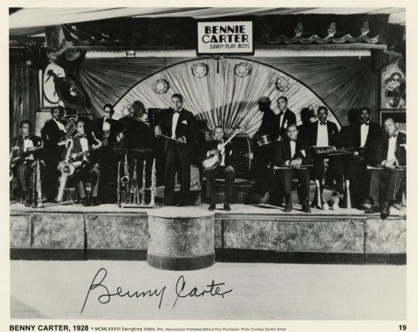 Benny Carter, Paul Desmond, Art Pepper signed portraits
