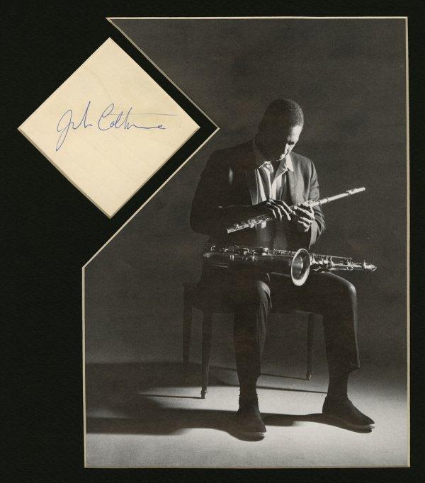 John Coltrane bold signature