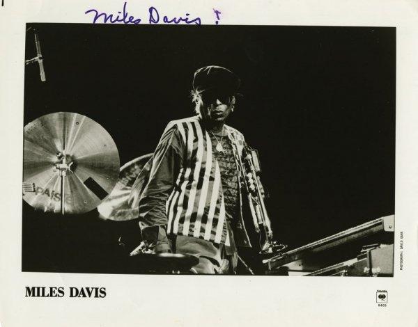 Miles Davis signed portrait