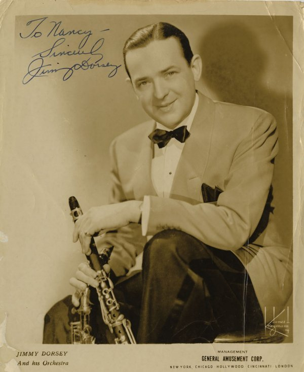 Jimmy & Tommy Dorsey and Paul Whiteman signed portraits