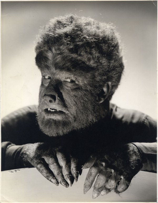 Lon Chaney, Jr. oversize portrait from The Wolf Man