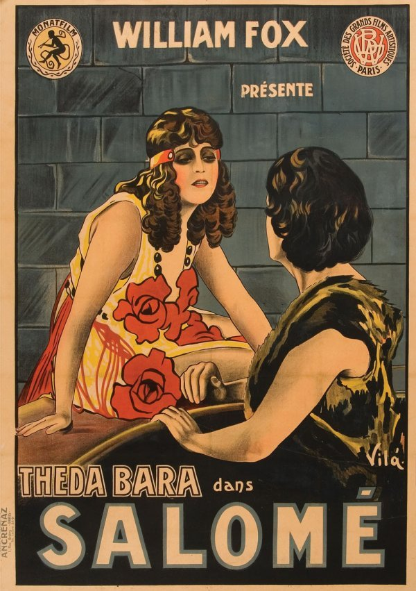 Salomé French affiche poster for Theda Bara version