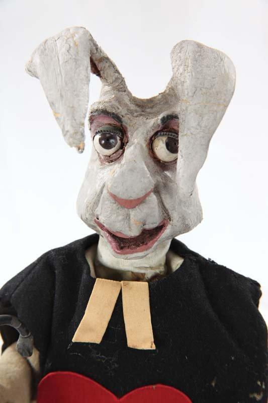 White Rabbit puppet from Alice in Wonderland