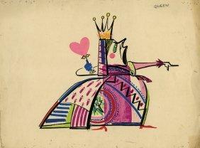 Alice in Wonderland Queen of Heart character design
