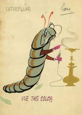 Alice in Wonderland color animal character designs